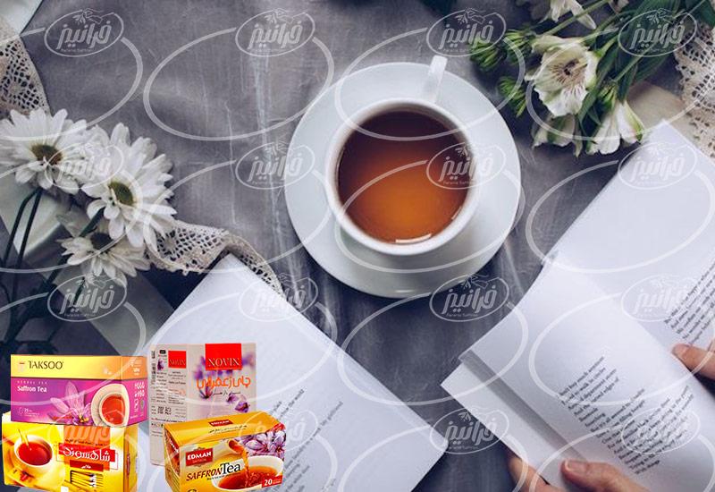 خرید چای سبز زعفرانی با مارک های مختلف