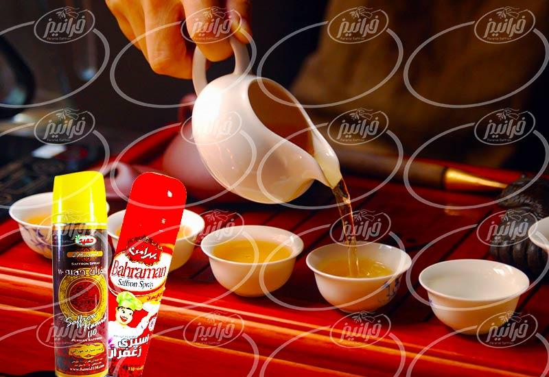 سفارش اسپری زعفران صادراتی با لیبل مشتریان