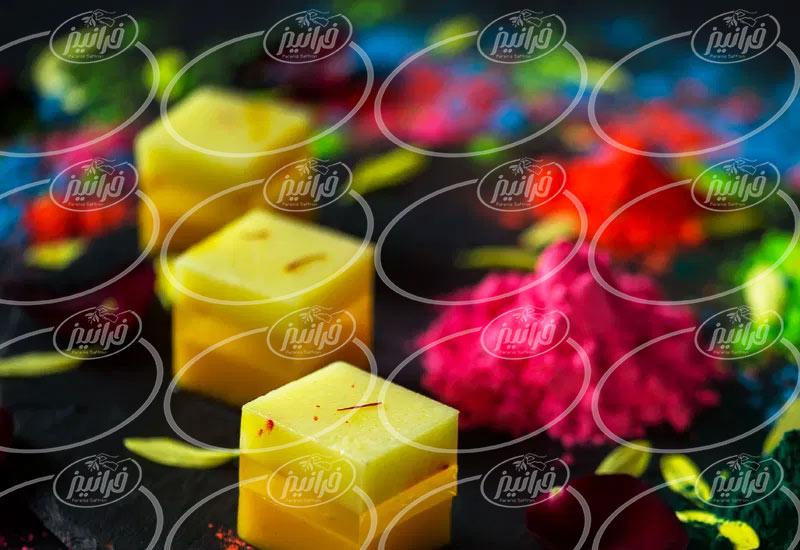 خرید عمده پودر ژله زعفرانی با کیفیت عالی