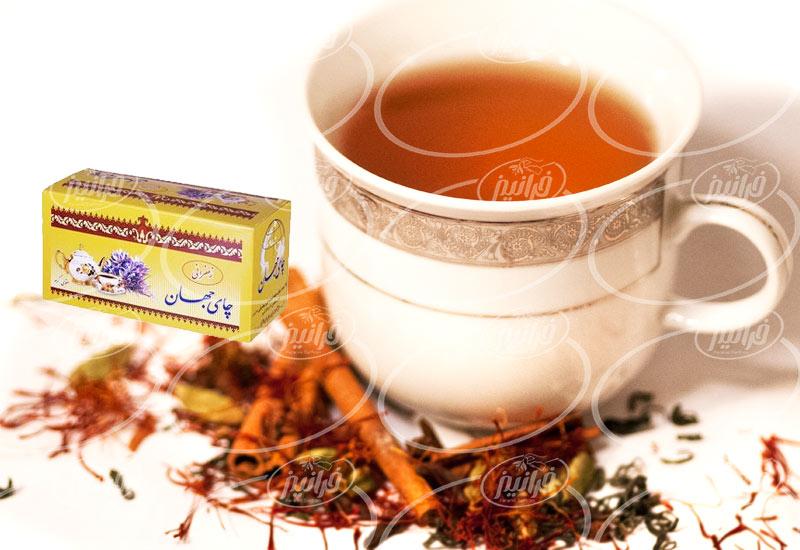 عرضه چای زعفرانی جهان با بسته بندی شیک