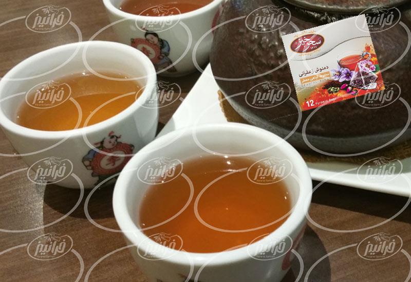 صادرات دمنوش زعفران سحرخیز توسط شرکت های هلدینگ