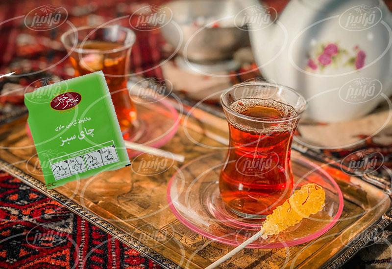 طرح فروش ویژه چای سبز زعفرانی سحرخیز